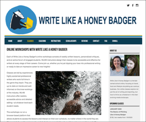 Screen shot of the WLHB site